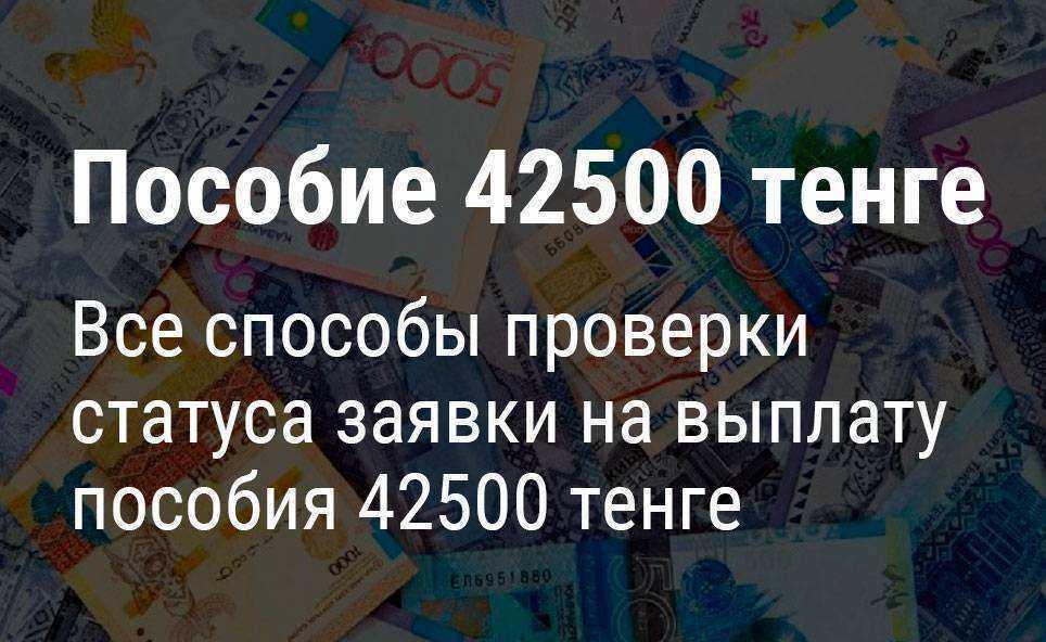 Все способы проверки статуса заявки на выплату пособия 42500 тенге