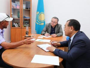 Аким области посетил Байганинский и Мугалжарский районы