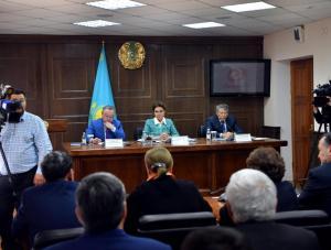 Дарига Назарбаева находится с рабочей поездкой в Актюбинской области