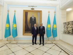 Аким Актюбинской области Ондасын Уразалин встретился с Послом РК в РФ Имангали Тасмагамбетовым