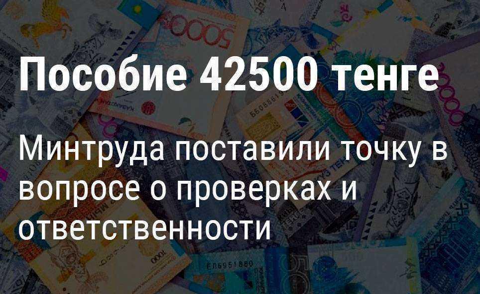 Министерство труда поставили точку в вопросе о проверках и ответственности по выплатам 42500 тенге